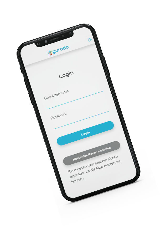 Einloggen zur gurado Gutschein App