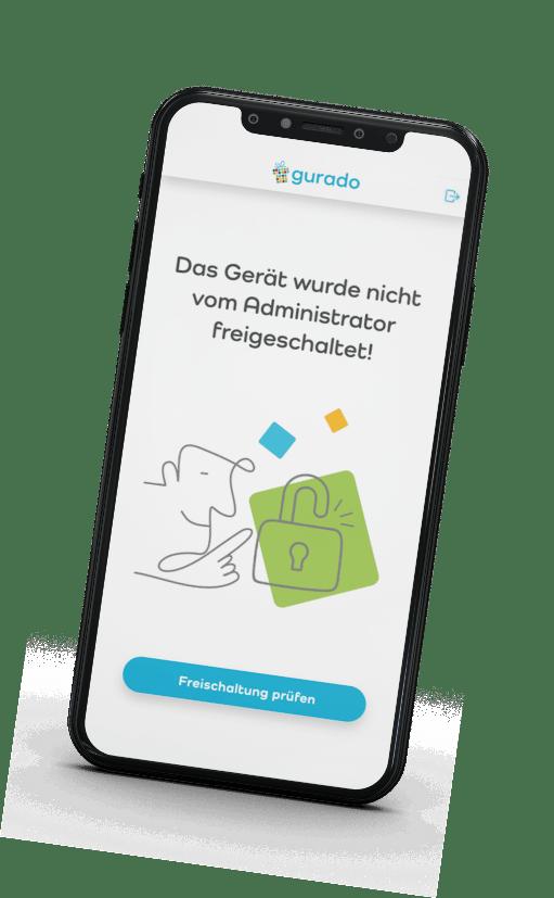 Gerät freischalten in Gutschein App